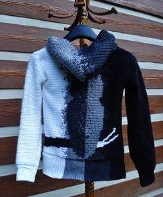 Silent Wisdom Owl Hoodie Tapestry Crochet Pattern Sizes S-5X