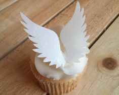 Angel Wings, Wings, Thin Edible Paper Cupcake Toppers, Cake Toppers, Wafer Paper, Food Safe, READ Item Details for amount