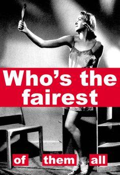 Fem Art: Denmark: Barbara Kruger: Gender Through Text Barbara Kruger Art, Fairest Of Them All, Riot Grrrl, Political Art, Feminist Art, Feminist Quotes, Arte Popular, Human Condition, Photography Projects