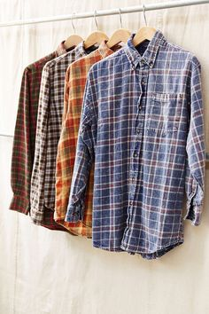 Urban Renewal Washed Out Flannel Shirt