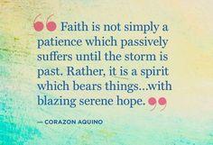 Corazon Aquino Quote on Faith