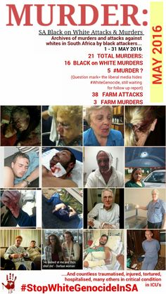 A PATTERN OF ASSASSINATION: THREE ANC LEADERS GUNNED DOWN IN 48 HRS & THE WAR ON WHITES YOU DONT SEE IN SOUTH AFRICA Black on White Genocide in South Africa #StopWhiteGenocideInSA News South Africa, Well Said Quotes, Double Standards, America And Canada, Tell The World, Freedom Of Speech, Question Mark, Real Life