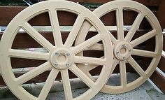 Pair of 60cm Candy Cart cart wheels 10 SPOKE  Top quality 18mm MDF with hub caps