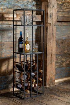 Diy Cabinet Doors, Wine Rack Cabinet, Drinks Cabinet, Shelf Furniture, Iron Furniture, Industrial Furniture, Marble Shelf, Home Coffee Stations, Wine Bottle Holders