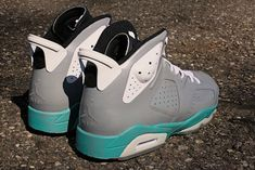 d123c411f022 Youth Big Boys Air Jordan VI McFly Customs Turquoise Cement Grey Jordans  2018
