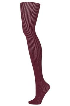 Opaque Chevron Tights