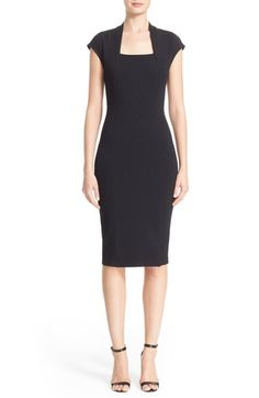 St. John Collection Embellished Luxe Sculpture Knit Dress available at #Nordstrom