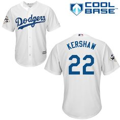 06237c603 Dodgers  22 Clayton Kershaw White Cool Base 2017 World Series Bound Stitched  Youth MLB Jersey