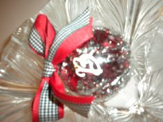 Alabama Christmas Ornament ... Fill clear balls with red/silver/black tinsel
