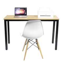 Need Computer Desk 47L15.7W Computer Table Writing Desk Side Table Office Desk Teak, AC3BB-40: Kitchen & Dining