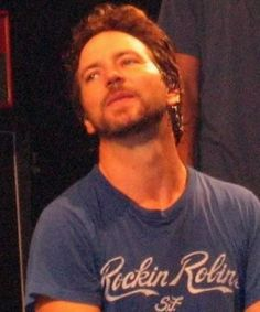 You are so sweet to wear a blue tee that perfectly matches your eyes. Really makes them look even more blue.