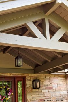 Porch With Open Gable Roof Patios Porches And Decks In