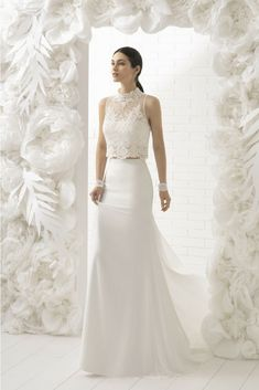 a5d3080cba4 65 Vestidos de novia de dos piezas  ¡Encuentra tu perfect match!