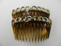 Vintage tortoise silver plated top side hair by aprilsunrises Hair Combs, Tortoise, Silver Plate, My Etsy Shop, How To Make, Gold, Vintage, Jewelry, Jewellery Making