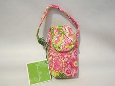 """Vera Bradley Cell Phone Case Petal Pink FS.  Yes, we know you love your """"plain old cell phones""""!  Smart phones aren't for everyone. Here's a great case for a traditional cell phone. tech key makeup holder NWT"""