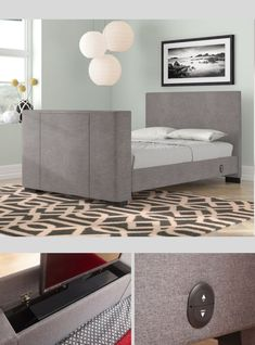 Top 15 of the Best TV Beds. This is the Gayle TV Bed in Grey fabric, can hold up to TV. Available in Double and King sizes. Read More. Navy Bedrooms, Tv Beds, Mattress In A Box, Grey Fabric, Best Tv, King Size, Storage, Top, Furniture