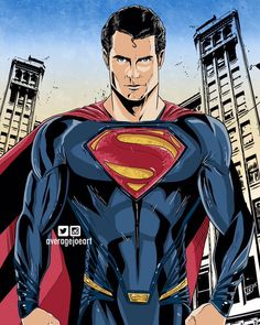 Drawing of Henry Cavill as 'Superman'