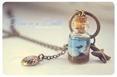 """Ocean in a bottle"" necklace"
