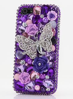 Purple bling iphone case