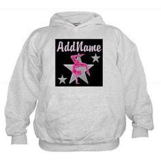 Cafepress Personalized Stunning Gymnast Kids Hoodie, Girl's, Size: M (10-12), Gray