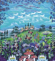 Esben Hanefelt Kristensen - Himmel og jord i bevægelse 35 x 32 cm