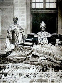Empress Zewditu of Ethiopia (1876-1930). She was empress of Ethiopia fromm 1916 to 1930. The first female head of an internationally recognized state in Africa in the 19th and 20th centuries, and the first Empress regnant of the Ethiopian Empire perhaps since the legendry Makeda, the Queen of Sheba. Empress Zewditu was succeeded on the throne by Negus Tafari, who took the name of Emperor Haile Selassie.