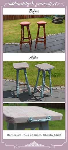 Pin von shabby it yourself auf siy st hle sessel for Barhocker neu polstern
