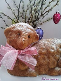 Easter lamb cake from Czech Republic Easter Pie, Easter Lamb, Easter Recipes, Dessert Recipes, Lamb Cake, Easter Traditions, Cake Cookies, Teddy Bear, Toys