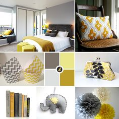 Moodboard - Grey and Yellow, Interior Design // thedizaincollective.com