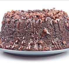 A heavenly chocolate cake recipe. Triple Chocolate Cake with Chocolate Chips and Glaze Recipe from Grandmothers Kitchen.