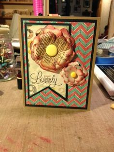 Ginger's Vintage Room: Crate paper DIY shoppe, cricut, lovely card, close to my heart