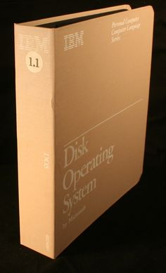 IBM DOS Disk Operating System V1.1 from Microsoft ... an incredible jump in technology at the time