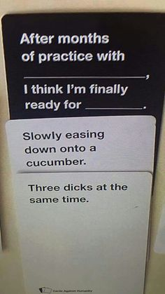 Cards Against Humanity strikes again. Cards Vs Humanity, Cards Against Humanity Funny, Lol, Funny Images, Funny Pictures, Beste Gif, Dark Humour Memes, Funny Pins, Funny Stuff