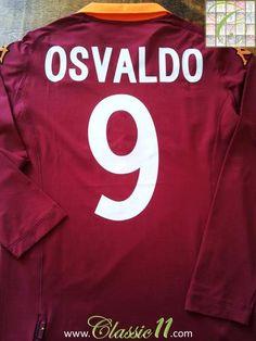 Relive Dani Osvaldo's 2012/2013 season with this original Kappa AS Roma home long sleeve football shirt.