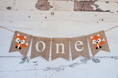 One Banner, A Fox One Banner, Fox Highchair Banner, Woodland one Banner, Birthday Everything Els 1st Birthday Decorations, 1st Birthday Banners, Boy First Birthday, Boy Birthday Parties, Birthday Ideas, Farm Birthday, Birthday Invitations, Fox Party, Woodland Party