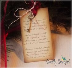Santa's Magic Key Poem Tags With Skeleton by SweetlyScrappedArt, $4.95