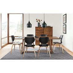Davis Dining Table with Pike Chairs - Modern Dining Room Furniture - Room & Board
