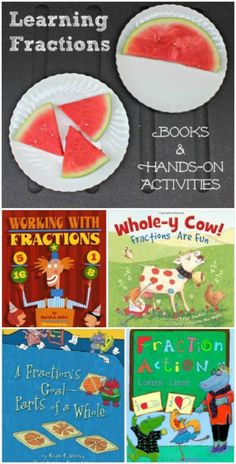 Hands-on activities & great books that teach kids about fractions!