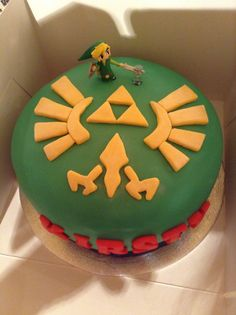 Legend of Zelda Cake - grooms cake! Zelda Birthday, 12th Birthday, 6th Birthday Parties, Birthday Ideas, Nintendo Cake, Nintendo Party, Cupcakes, Cupcake Cakes, Zelda Cake