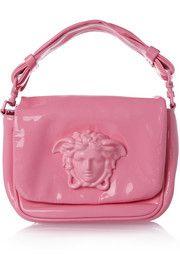 Versace Patent-leather shoulder bag