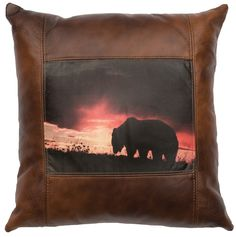 Decorative Leather Pillow - WD80218 by Wooded River