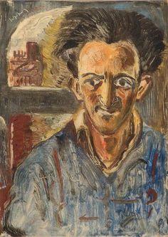 Lippy Lipshitz - Self Portrait (1948), monotype, 37.5 x 27 cm