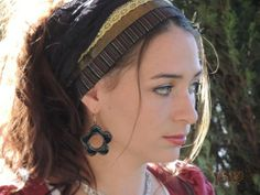 Sparkling Black & Gold Headband ,bandana,tichel,Hair Snood, Head Scarf,Head Cove