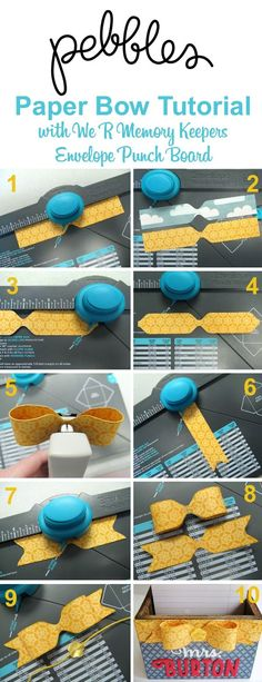 3D Bow Tutorial by Mendi Yoshikawa using Envelope Punch Board from…