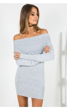 Before The Storm Knit Dress Grey