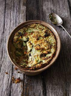 Fresh basil and ricotta pesto, perfectly firm zucchini and pecorino make this a comforting winter vegetarian dish, taken from new Italian cookbook 'Sharing Puglia'.