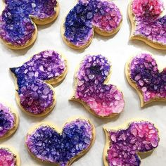 """65 Likes, 6 Comments - The Daily Beautiful (@the_daily_beautiful) on Instagram: """"These 💜🍪are making me all 😍😍😍Designed and made by @zoe.lukas for @whippedbakeshop. Follow…"""""""