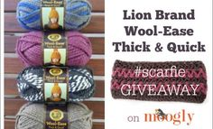 Knitty Gritty Savings - Win Lion Brand Thick and Quick!