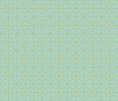 Party Birds BG Aqua fabric by jillianmorris on Spoonflower - custom fabric