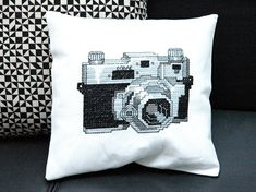 Vintage Camera Cross Stitch Pattern PDF by tinymodernist on Etsy, $5.00